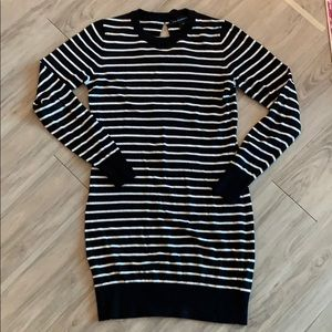 French Connection Striped Bow Sweater Dress